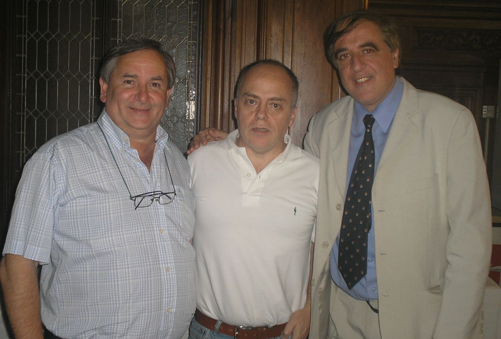 "3 LADAC-Argentina Presidents pictured at the ""Club Argentino de Ajedrez"" on 18.12.2011. From left to right: Dr. Jorge Eduardo Deforel, Carlos Leon Cranbourne, Dr. Claudio Javier Gonçalves"